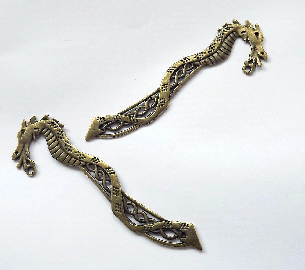Záložka k dotvoření - drak - komponent, kov, kovová, staromosaz