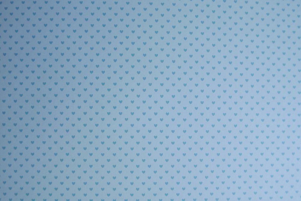 Modrá srdíčka na modrém - fotokarton