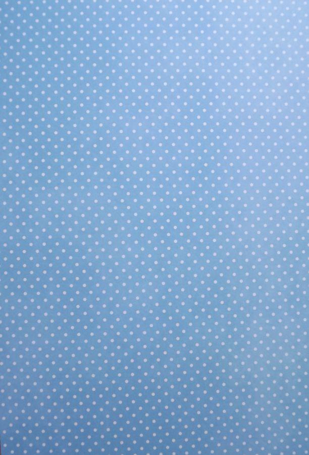 Fotokarton - papír, potisk bílé puntíky na modrém pozadí oboustranný 300g - vhodný na scrapbook, cardmaking, koláže, A4, rozdílné strany,modrobílý,