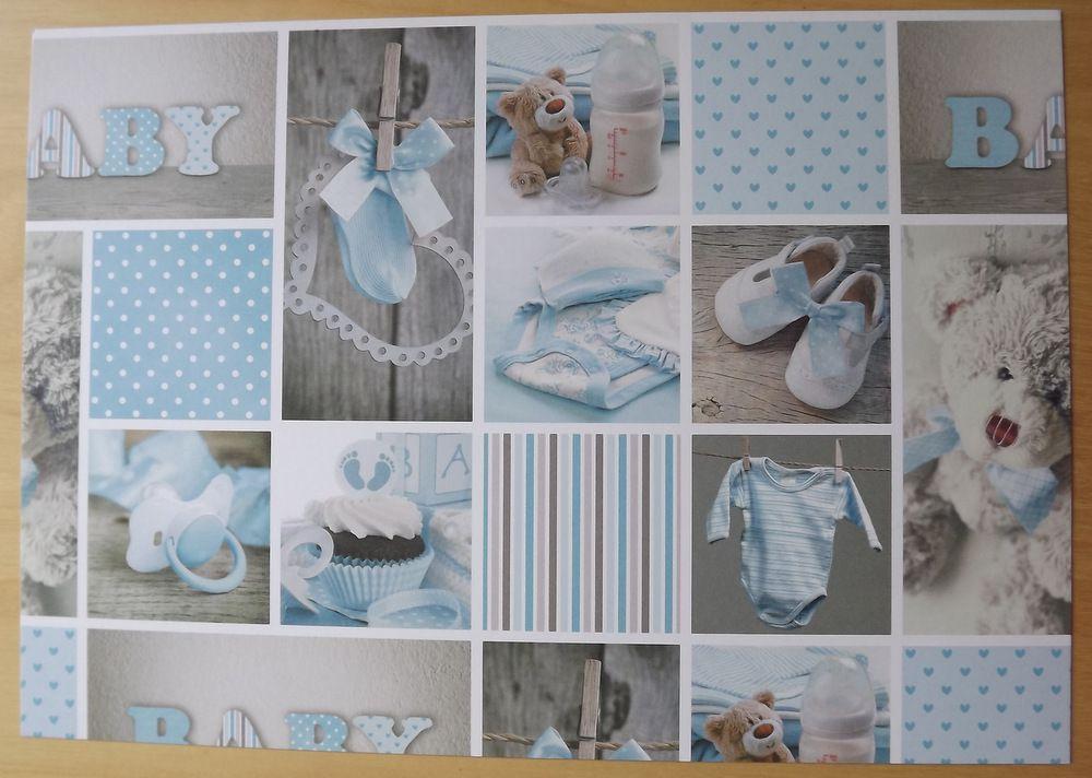 Fotokarton - papír, potisk motivů miminkovských, oboustranný 300g - vhodný na scrapbook, cardmaking, koláže, A4, botičky, baby, miminko, medvídek