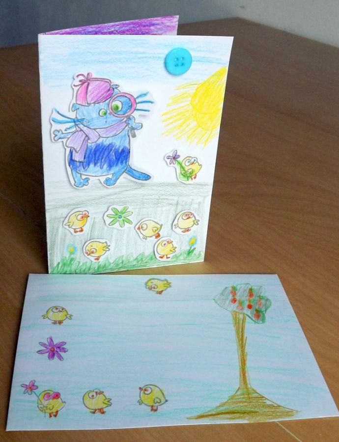 """Kocour detektiv - sada na scrapbook pro děti i dospělé, DIY, kočka, kočička, kotě, dárek, přání, třpytky,obálka, veselé Veronika """"Tanísek"""" Kocková"""