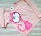 Růžová kočka na růžovém 116