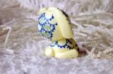 """Mutipoň pastelově žlutý - vanilkový - fimo - králík králíček beran beránek - ručně modelovaný a malovaný pro radost, pro štěstí Do dlaně Veronika """"Tanísek"""" Kocková"""