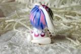 """Mutipoň bílý - bělostný - fimo - králík králíček beran beránek - ručně modelovaný a malovaný pro radost, pro štěstí Do dlaně Veronika """"Tanísek"""" Kocková"""