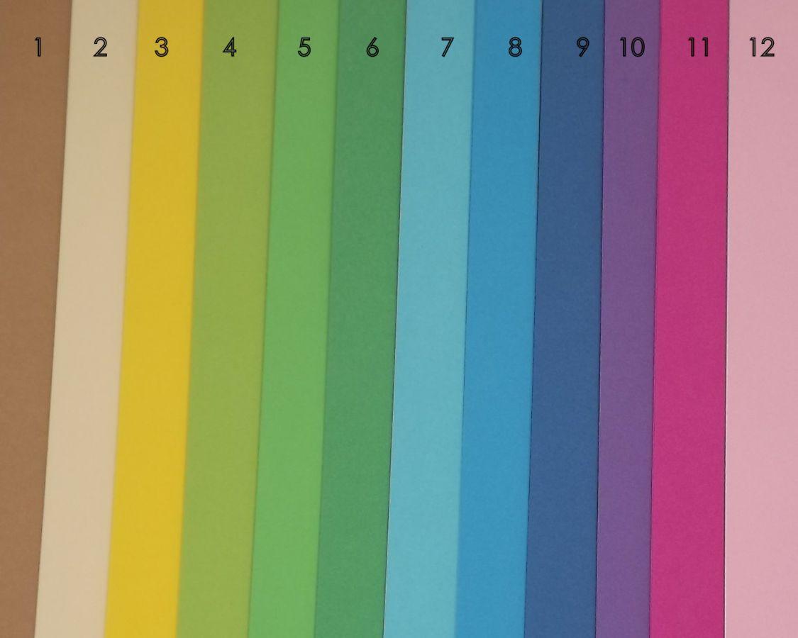 Fotokarton žlutý jednobarevný - čtvrtka jednobarevná žlutá bez potisku, 300g - vhodný na scrapbook, cardmaking, koláže, A4, přání, visačky, záložky