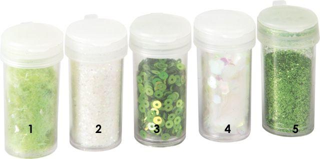 Zeleno - růžové - bílé třpytky - glitry opalizující kolečka vhodné pro práci s fimem, papírem, cardmaking,scrapbook