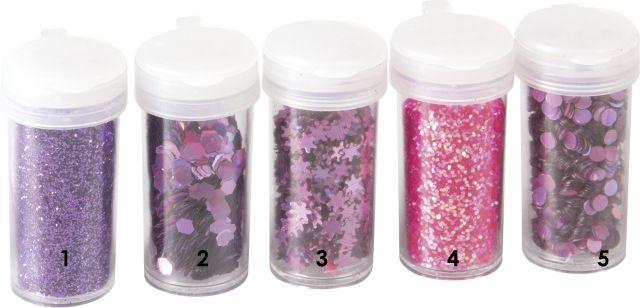 Růžové opalizující hvězdičky - glitry vhodné pro práci s fimem, papírem, cardmaking,scrapbook