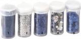Glitry - stříbrné opalizující třpytky - na foto 2