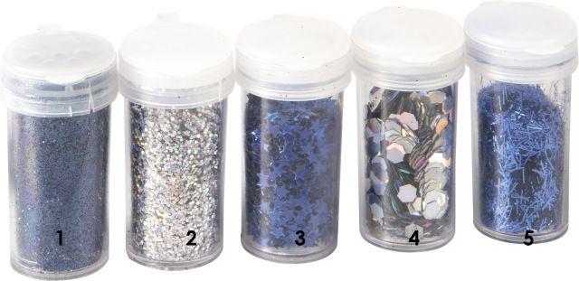 Modré opalizující hvězdičky třpytky - glitry vhodné pro práci s fimem, papírem, cardmaking,scrapbook