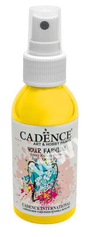 Žlutá citronová - Cadence - barevný sprej na textil - Your fashion - 100ml - vhodné pro práci se šablonami (šablonou), šablonování