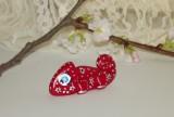 Zvětšit fotografii - Červený chameleon se stříbrnými kytičkami