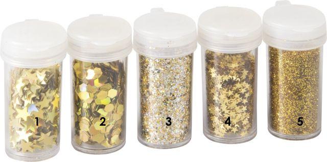 Zlaté velké hvězdičky - glitry vhodné pro práci s fimem, papírem, cardmaking,scrapbook