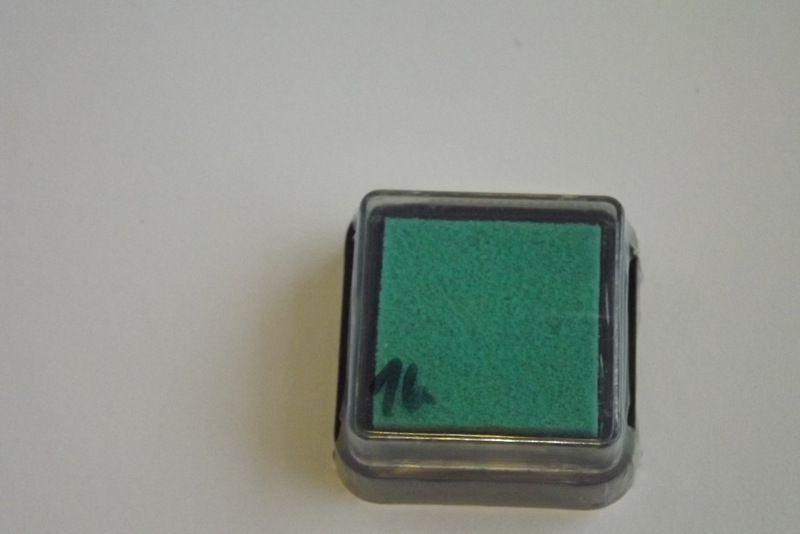 Zelený - razítkovací polštářek - vhodný pro scrapbook, cardmaking, práci s dětmi, do škol,