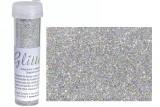 Jemné třpytky holografické stříbrné