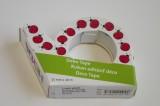 Průhledná foliová lepicí páska potisk berušky - pro tvorbu přání (cardmaking). scrapbook, výrobu dekorací. 10metrů, trhací zoubky. izolepa