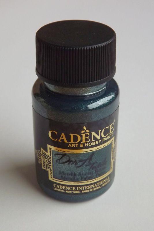 Petrolium - petrolejová - tmavě zelená metalická barva na textil - Cadence DorA - zdravotně nezávadná, 50ml