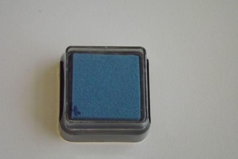 Modrý razítkovací polštářek - vhodný pro scrapbook, cardmaking, práci s dětmi, do škol,
