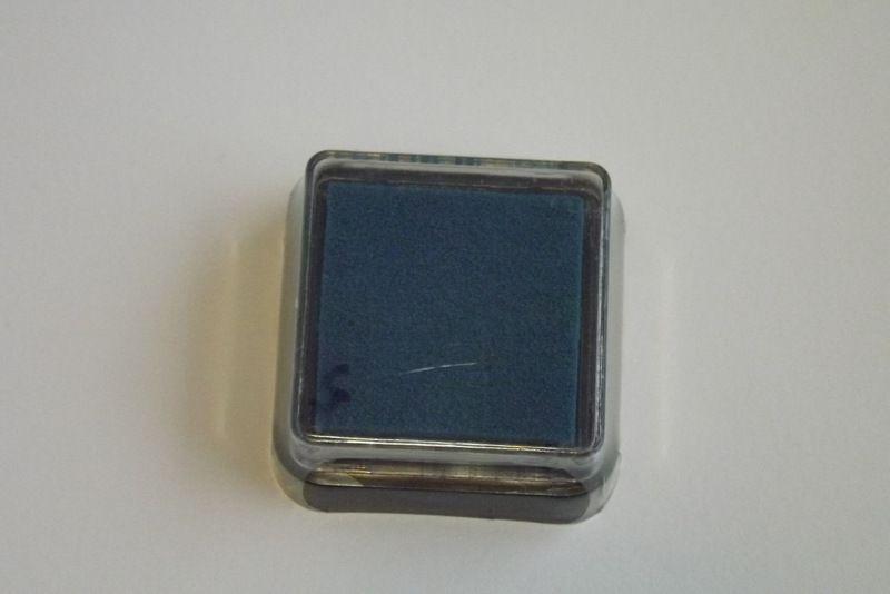 Tyrkysový razítkovací polštářek - vhodný pro scrapbook, cardmaking, práci s dětmi, do škol,