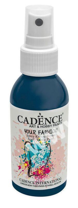 Petrolejová - Cadence - barevný sprej na textil - Your fashion - 100ml - vhodné pro práci se šablonami (šablonou), šablonování