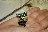 Perleťová černá kočka