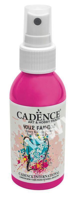 Růžová - Cadence - barevný sprej na textil - Your fashion - 100ml - vhodné pro práci se šablonami (šablonou), šablonování