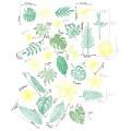 Tropické listy a květy - sada gumových - pěnových razítek vhodných na scrapbook, cardmaking, tiskání na textil,dětské tvoření,razítka jsou menší nez Aladine stampo textile, možný otisk polymerů, keramiky, hluboká textura, přesný otisk
