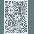 Zvětšit fotografii - Kvítky - šablona na textil