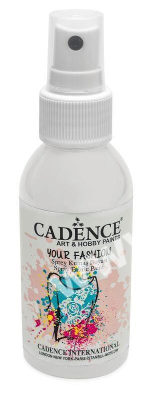 Bílá - Cadence - barevný sprej na textil - Your fashion - 100ml