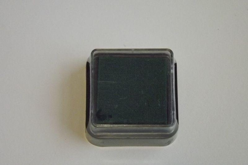 Zelený razítkovací polštářek - vhodný pro scrapbook, cardmaking, práci s dětmi, do škol,