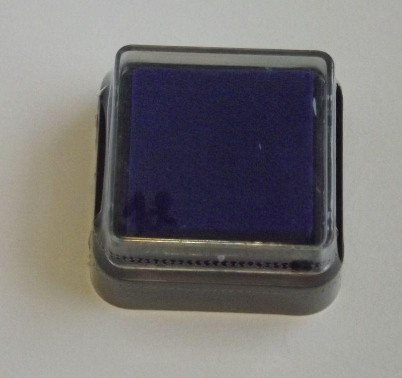 Modrý - razítkovací polštářek - vhodný pro scrapbook, cardmaking, práci s dětmi, do škol,