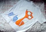 "Bílé triko krátký rukáv 100% bavlna - ručně malované - liška a myška, myšky, cute unisex střih - dospělé M) Veronika ""Tanísek"" Kocková"