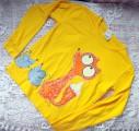 Žluté triko s liškou 140