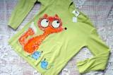 Zelené triko Liška a myšky dr.116