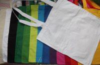 Bavlněná taška s dlouhým uchem - různě barevné, vhodné k malování