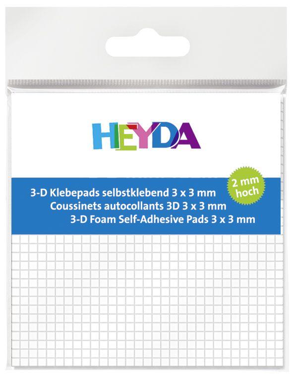 3D polštářky 3x3mm - 3mm heyda