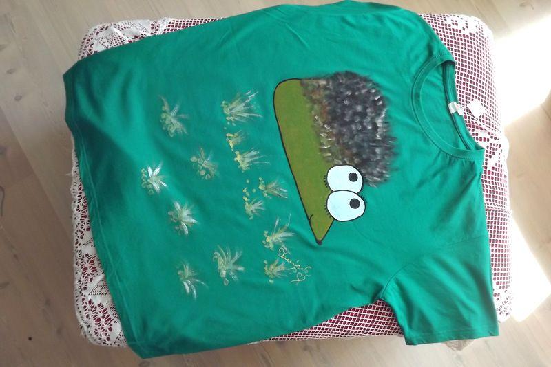"""Ježek pro velkého Ježka XL - zelené triko s krátkým rukávem Veronika """"Tanísek"""" Kocková"""