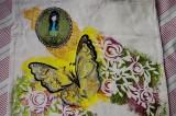Zvětšit fotografii - Motýl, růže, Santoro - taška