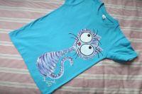 """Fialková kočička modré kr 134 Světle modré tričko s krátkými rukávy 100% bavlna - ručně malované - fialovomodrá kočička, kocour, kotě,cute, Veronika """"Tanísek"""" Kocková"""
