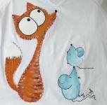veselé tričko s liškou a myškami velikost XL