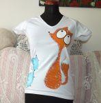 liška s myškami veselé triko