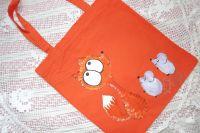 """Liška a myšky - látková taška 100% bavlna ručně malovaná Veronika """"Tanísek"""" Kocková"""
