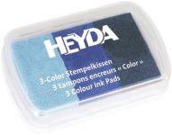 Razítkovací polštářek Modrá- 3 odstíny