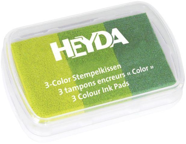 Razítkovací polštářek Zelená- 3 odstíny - vhodný pro scrapbook, cardmaking, práci s dětmi, do škol,razítkování