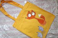 Liška a myšky - látková taška