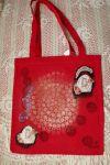Červená taška Santoro