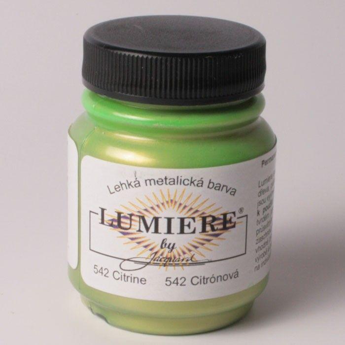 Akrylová barva na textil Lumiere - metalické Jacquard