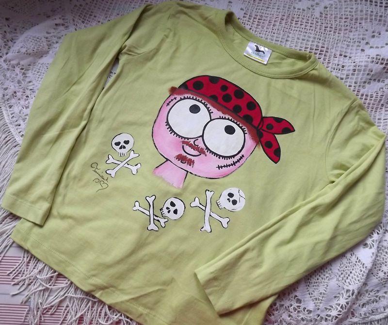 """Pirát dr. 128 - zelené triko s dlouhým rukávem Veronika """"Tanísek"""" Kocková"""