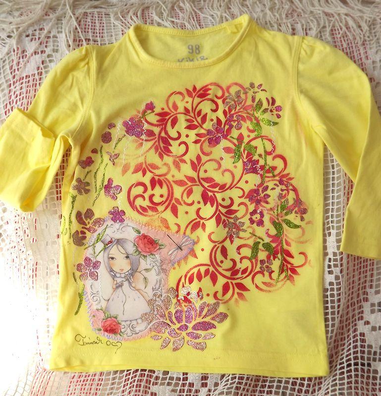 "Dívka s růžemi dr. 98 - žluté tričko Veronika ""Tanísek"" Kocková"