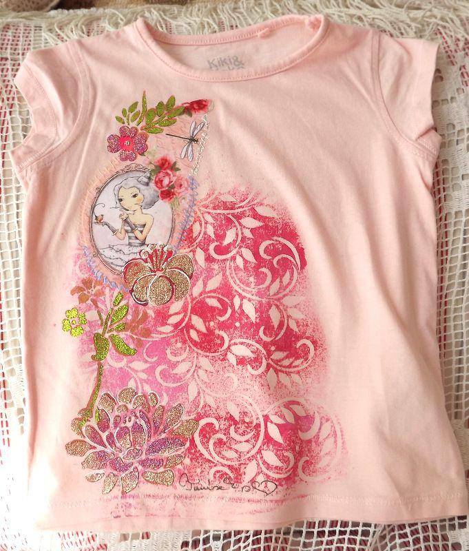 """Dívka s růžemi kr. 104 - růžové tričko Veronika """"Tanísek"""" Kocková"""