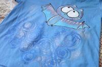 """Netopejr 116- modré tričko s krátkým rukávem Veronika """"Tanísek"""" Kocková"""